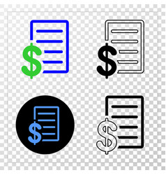 price list eps icon with contour version vector image