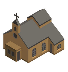 Protestant church icon isometric style vector
