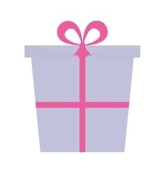 purple and pink gift box present ribbon vector image