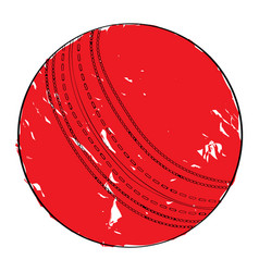 retro cricket ball vector image vector image