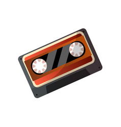 retro tape music cassette from plastic material vector image