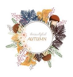 round autumn vector image