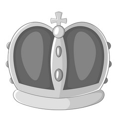 royal crown icon monochrome vector image