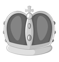 Royal crown icon monochrome vector