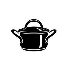 saucepan for cook hot dishes icon simple style vector image