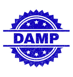 Scratched textured damp stamp seal vector
