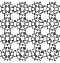 Seamless arabic geometric ornament in black color vector