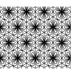 seamless geometric pattern in style kumiko vector image