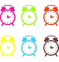 Set of a alarm clock vector image