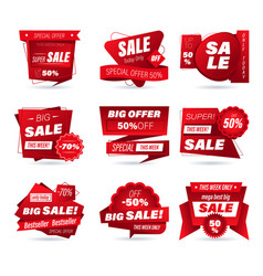 Set retail sale badge shopping stickers vector
