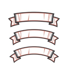 Set ribbons vector