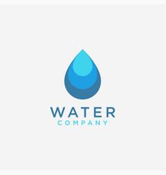 simple modern water drop logo icon vector image
