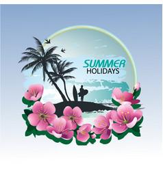 Summer holidays stock image vector
