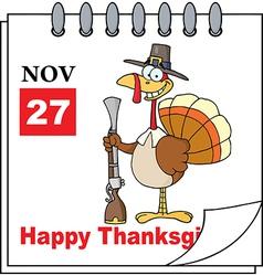 Thanksgiving cartoon design vector