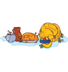 Thanksgiving Day dinner vector image