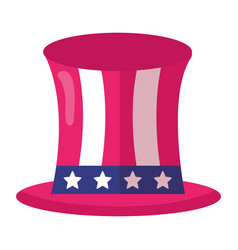 top hat with american flag vector image