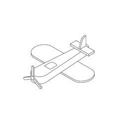 Toy plane icon isometric 3d style vector
