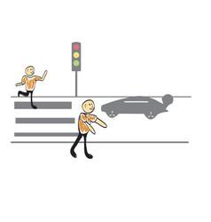Traffic light vector