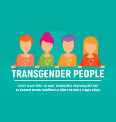 Transgender people concept banner flat style vector