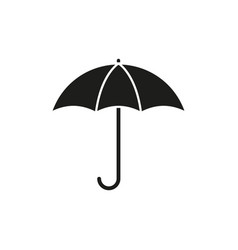 umbrella is black icon vector image