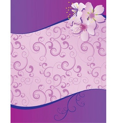 Violet flowers wave blank vector