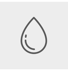 Water Drop thin line icon vector image