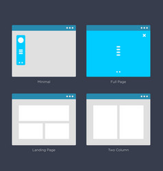Website wireframe layouts ui kits for site map vector