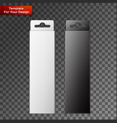 White and black product package box vector