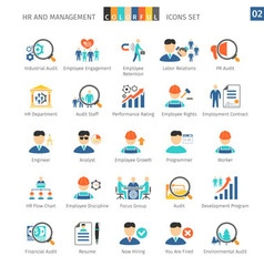 Human resources flat set 02 vector
