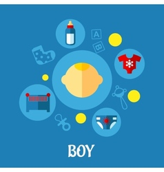 Little Boy Concept Graphic Design vector image vector image