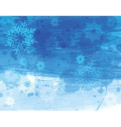 Blue christmas watercolor background vector image vector image