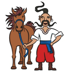 Happy Ukrainian Cossack vector image vector image