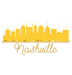 nashville city skyline golden silhouette vector image vector image