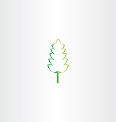 Stylized green eco leaf icon design vector