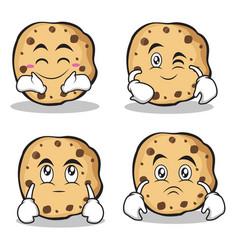 sweet cookies character cartoon set collection vector image vector image