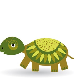 Funny turtle on a white background vector image