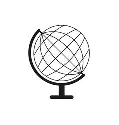 white globe icon vector image