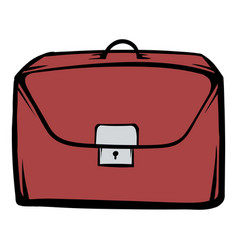 brown business briefcase icon cartoon vector image