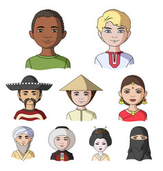 chinese russian american arab indian turk and vector image vector image
