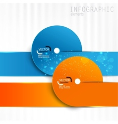 Colorful paper design elements on white background vector image