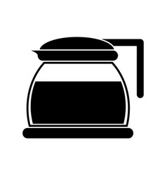 glass pot with coffee pictogram vector image