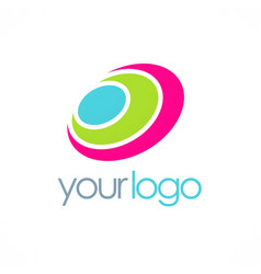 round color loop logo vector image