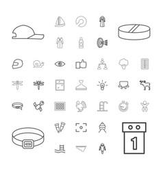 37 outline icons vector