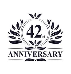 42nd anniversary logo 42 years celebration vector