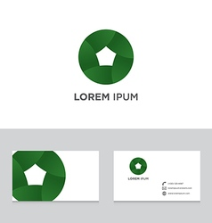 Abstract logo icon design business card template vector