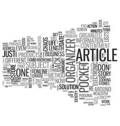 an article about articles text word cloud concept vector image