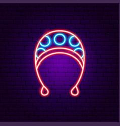Baby hat neon sign vector