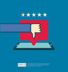 bad one star review concept dislike bubble vector image