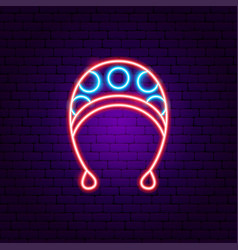 bahat neon sign vector image