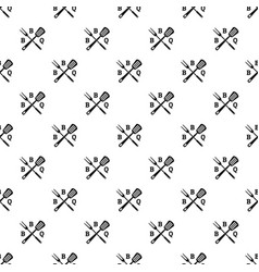 bbq pattern seamless vector image